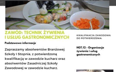 OFERTA EDUKACYJNA 2021/2022 BRANŻOWA SZKOŁA II STOPNIA