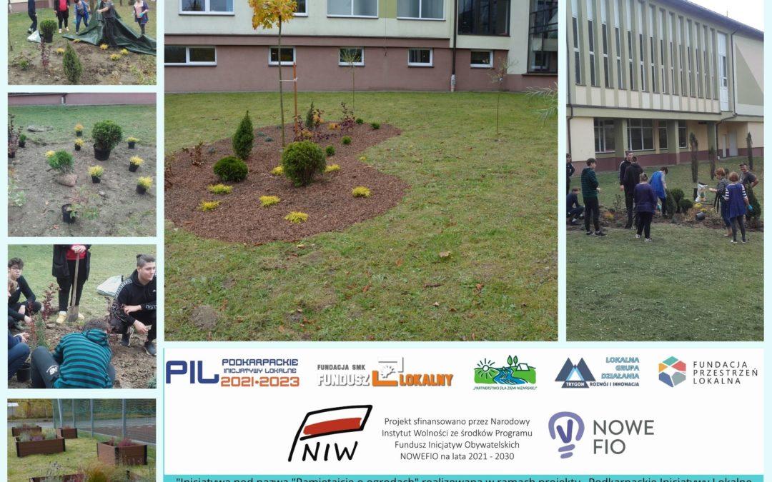 Zagospodarowywanie przestrzeni wokół budynku szkoły